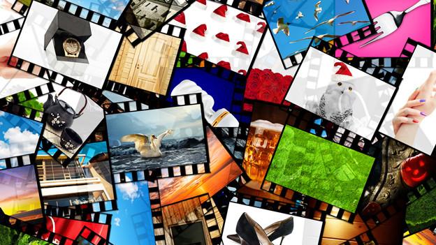 Collage mit Ferienfotos.
