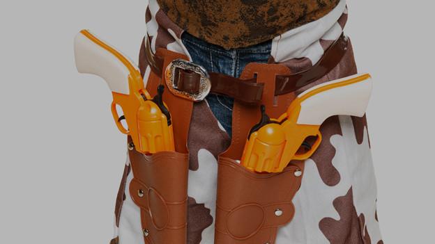 Cowboy-Gürtel mit Spielzeugpistole