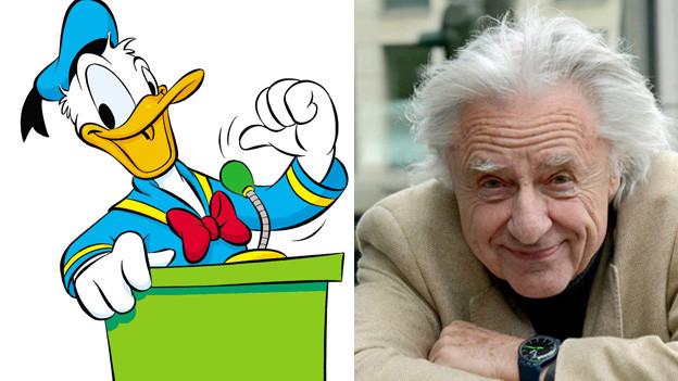 In «Die Ducks in den Alpen» trifft Donald Duck auf Emil Steinberger.