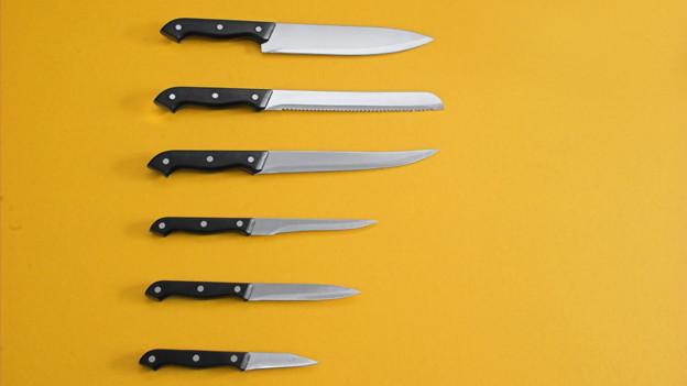 Verschiedene Messer.