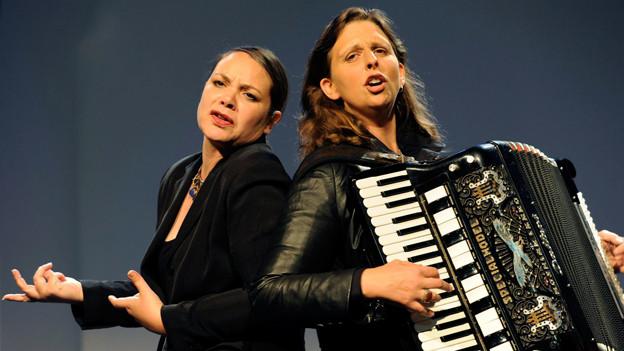 Das Duo «Knuth & Tucek» mit Nicole Knuth (links) und Olga Tucek.