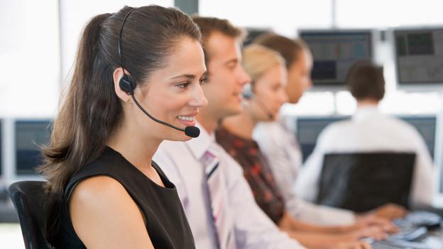 Kundendienst mit Headset