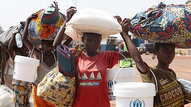 Menschen in Zentralafrika.