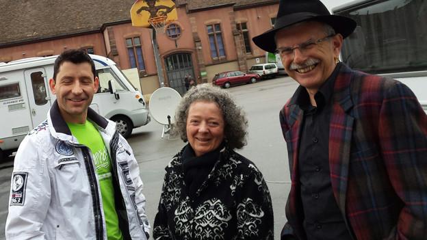 Fahrende Andreas Geringer, Maria Mehr und Venzanz Nobel