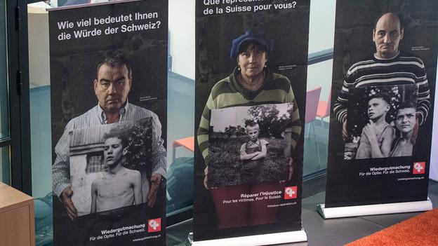 Plakate der Wiedergutmachungsinitiative