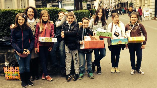 Gruppenfoto der Klasse 5d des Schulhauses Hinterleisibach