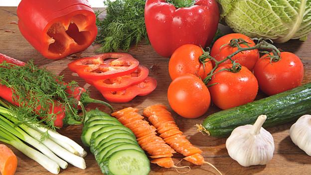 Geschnittenes Gemüse.