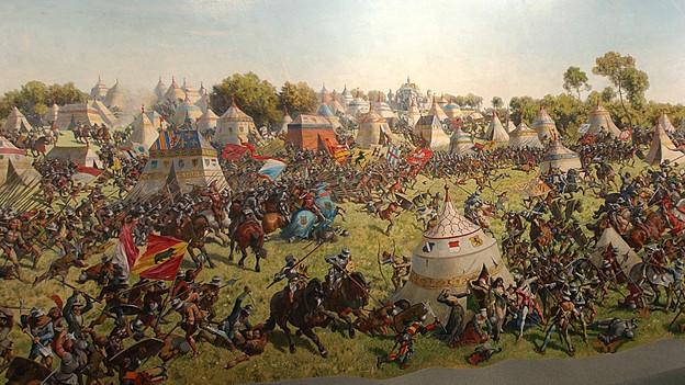Panorama der Schlacht von Murten