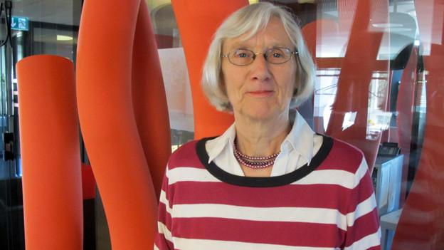 Verena Fahrni im Radiostudio.