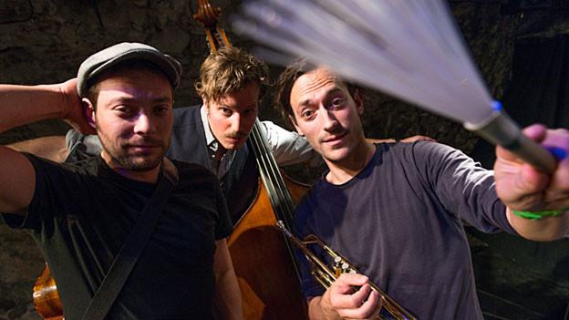 Dr Einzig, dr Andr und Diisä sind Livio Baldelli, Matteo Schenardi und Benno Muheim