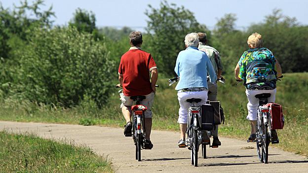 Velofahrer bei der Radtour.
