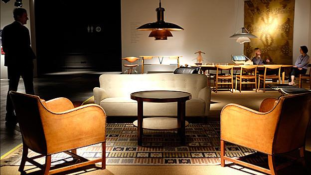 Möbel in der Designausstellung in Basel.