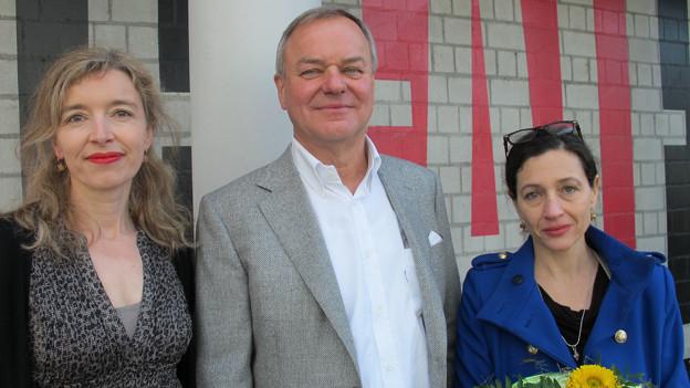 Gastgeberin Anita Richner, Rudi Bindella und Delia Mayer.