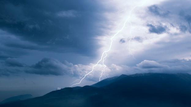 Blitz über Bergen