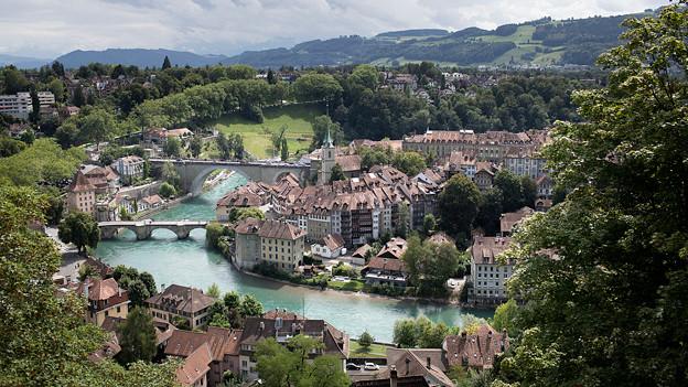 Blick auf die Berner Altstadt.