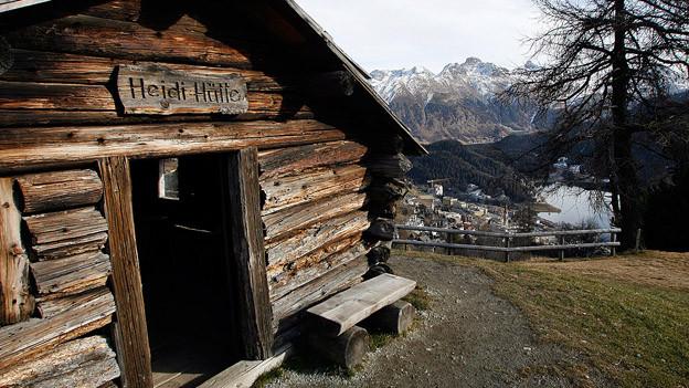 Das Heidihaus auf Salastrains oberhalb St. Moritz.