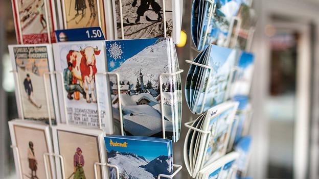 Postkarten-Ständer.