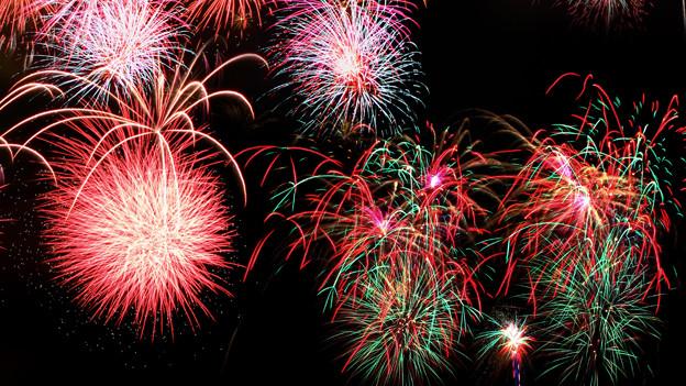 Feuerwerk am Nachthimmel.