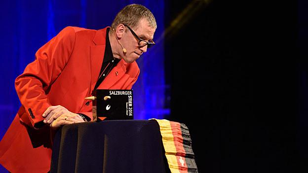 Thomas C. Breuer an der Preisverleihung des Salzburger Stier 2014 in Baden-Baden (D)