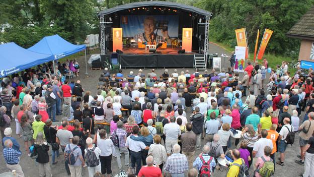 Publikum am «Querfeldeins»-Auftakt in Brugg.
