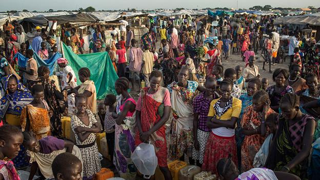 Flüchtlinge in einem Flüchtlingslager im Südsudan.