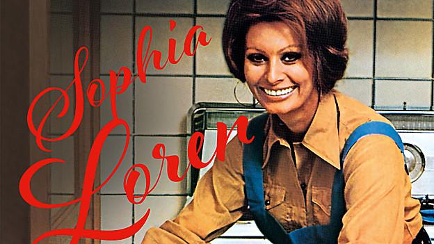 Sophia Loren in der Küche.