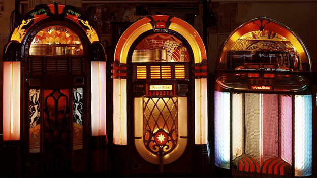 Jukeboxen im Museum.