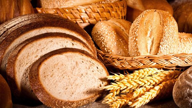 Zusammenstellung verschiedener Brote.