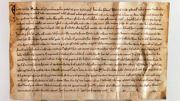 Bild vom Bundesbrief von 1291.