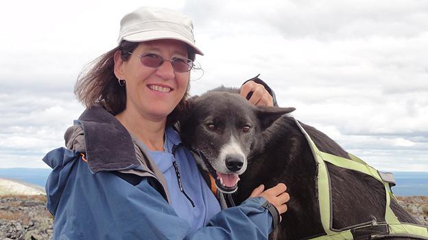 Catherine Marguet mit Hund.