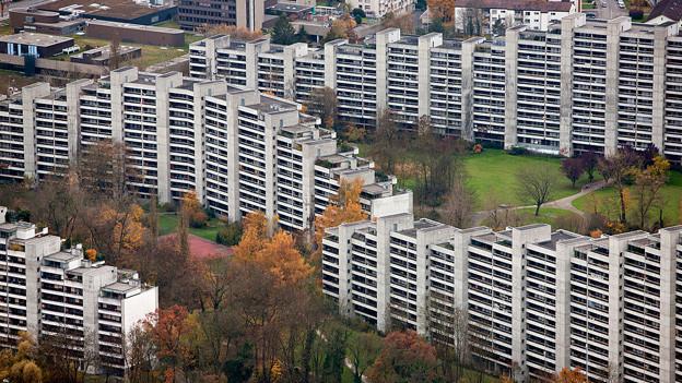 Wohnblöcke des «Telli»-Quartiers in Aarau.