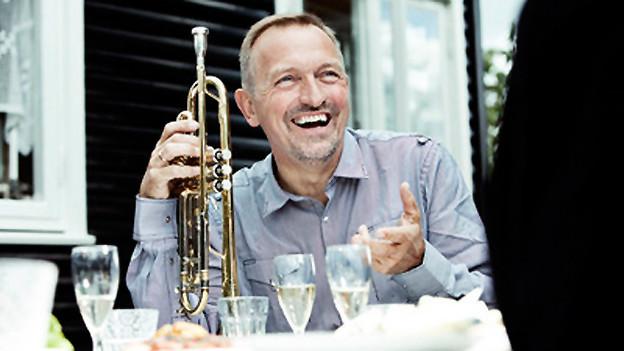 Per Nielsen mit Trompete.