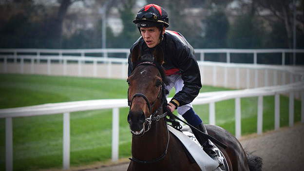 Tim Bürgin auf dem Pferd.