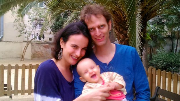 Beat Brügger mit Frau und Kind.