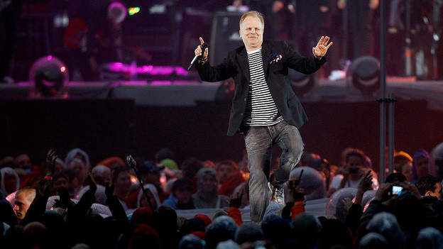 Herbert Grönemeyer auf der Bühne.