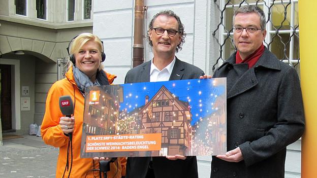 V.l.n.r: Redaktorin Pascale Folke, Geri Müller und Christoph Umbricht.