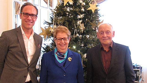 V.l.n.r. Christian Zeugin, Christine Hofmann und Viktor Gertsch.