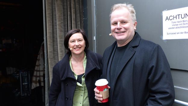 Herbert Grönemeyer mit Katharina Kilchenmann.