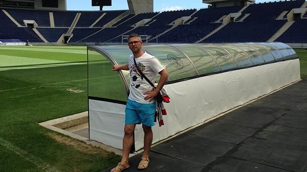 Im Porto-Stadion: Porto-Fan Daniel Cardoso.