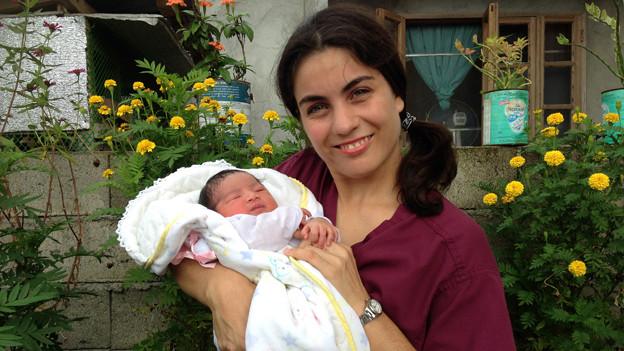 Deborah Stupp mit Baby.