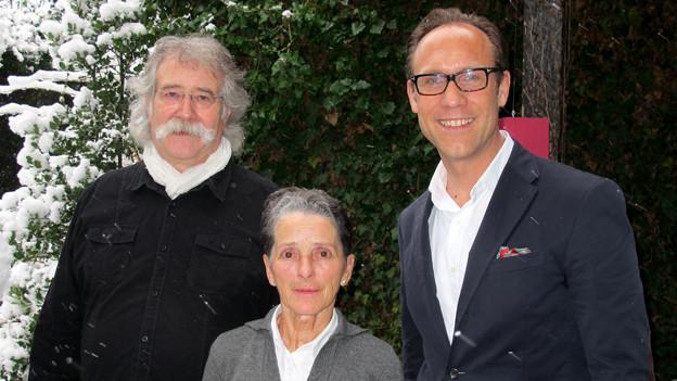 Christian Zeugin (rechts) mit den «Persönlich»-Gästen Franziska Gehr und Kuno Bont.