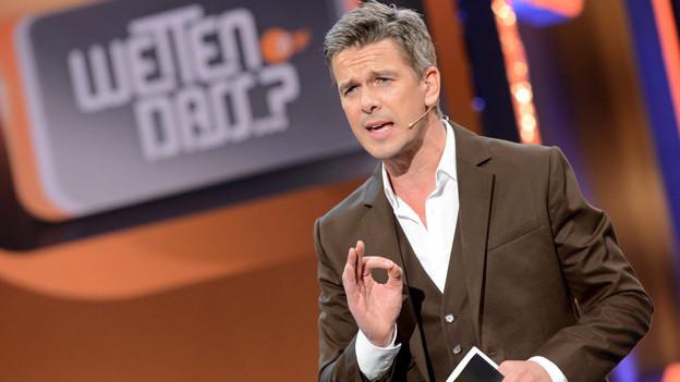 Markus Land sprechend in der Sendung «Wetten, dass...?».
