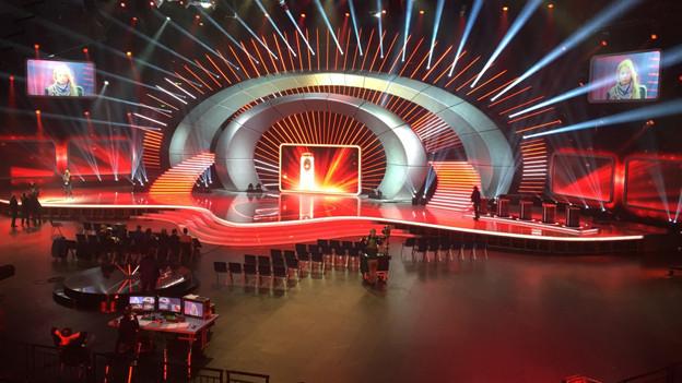 Die Bühne von «SwissAward» im Hallenstadion.