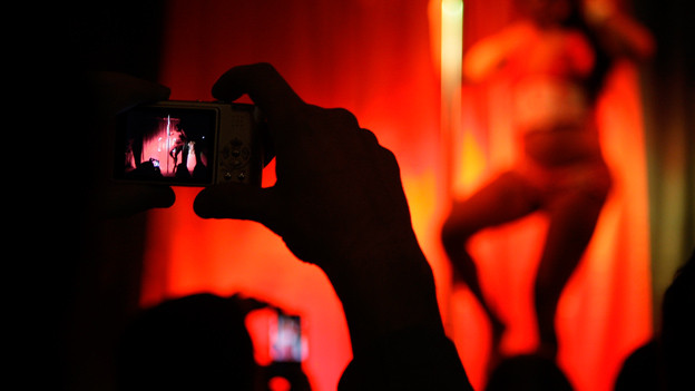 Tänzerin und Fotograf