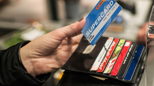 Karten im Portemonnaie