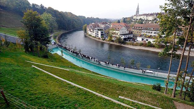 Blick auf den Bärenpark in Bern.