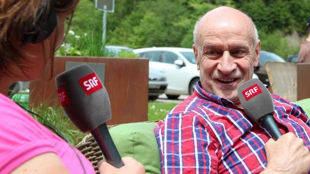 Riccarda Trepp im Gespräch mit Simon Schenk.