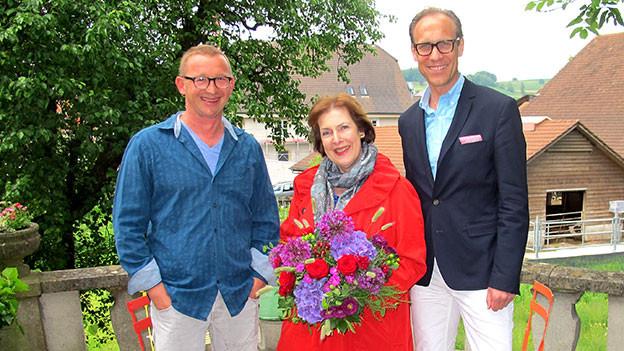 Die «Persönlich»-Gäste posieren mit Gastgeber Christian Zeugin.