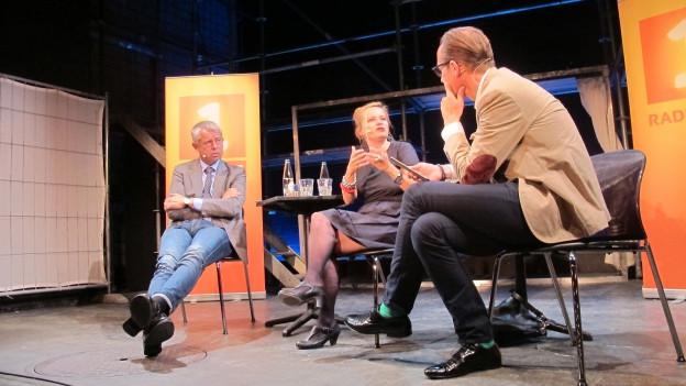 «Persönlich»-Gesprächsrunde mit Nicolas Bideau und Stephanie von Orelli.