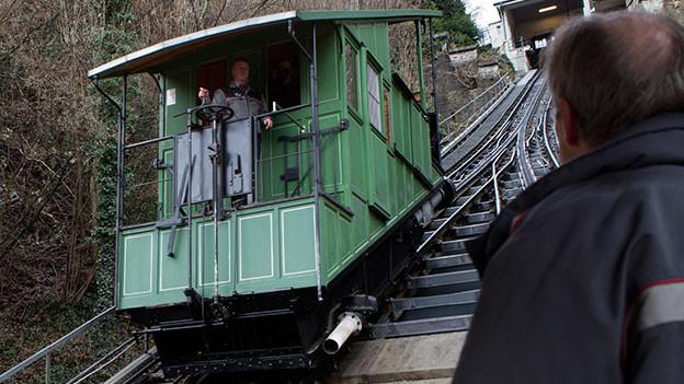 Alte Drahtseilbahn in Freiburg.